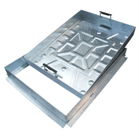 76 mm Deep Max Block 65 mm Galvanised Frame Recessed Manhole Covers for Block Paving & Slabbed Areas