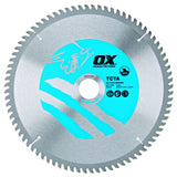OX Alu/Plastic/Laminate Cutting Circular Saw Blade 300/30mm, 100 Teeth TCG - Extra Fine Finish
