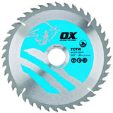 OX Wood Cutting Circular Saw Blade ATB  - 20 Teeth Speed Cut 40 Teeth Cross Cut 60 Teeth Fine Finish