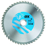 OX Wood Cutting Circular Saw Blade ATB - 48 Teeth Speed Cut 60 Teeth Cross Cut