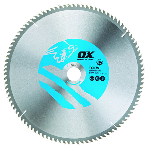 OX Wood Cutting Circular Saw Blade ATB - 48 Teeth Cross Cut 60 Teeth Fine Finish 80 Teeth Extra Fine Finish
