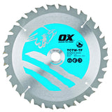 OX Wood Cutting Thin Kerf Circular Saw Blade ATB - 24 Teeth Speed Cut 40 Teeth Cross Cut 60 Teeth Fine Finish