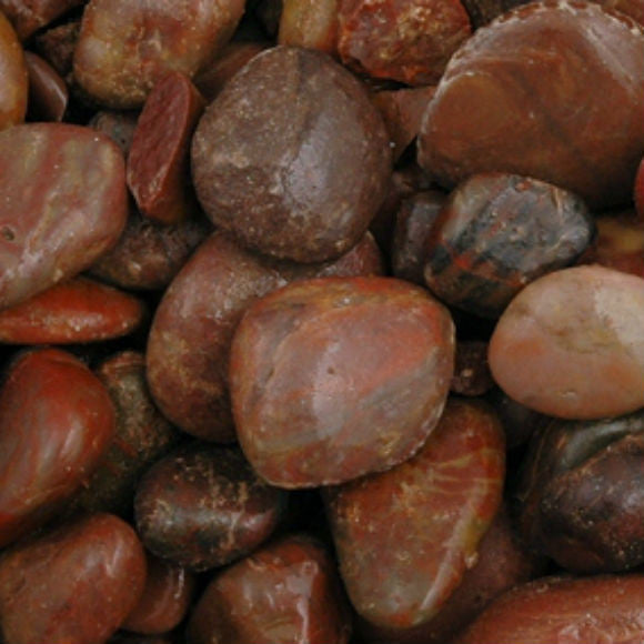 Red Polished Pebbles 15 - 30 MM