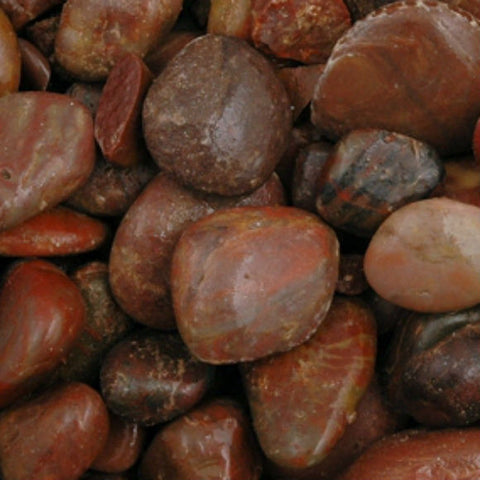 Red Polished Pebbles 15 - 20 mm