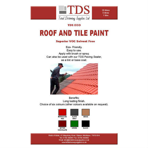 TDS Roof Paint - Available in 6 Colours