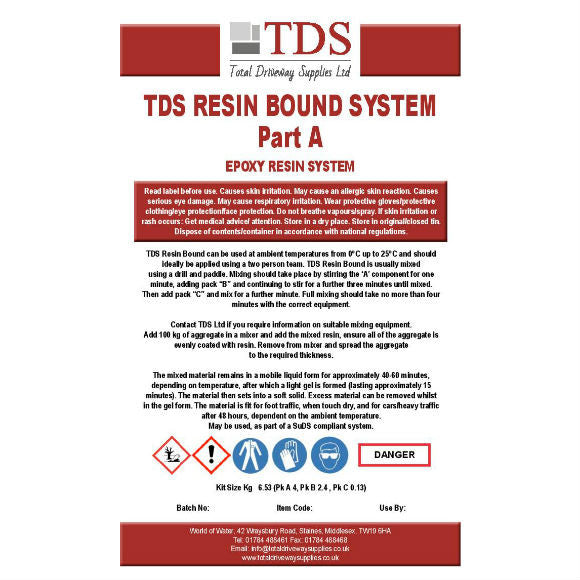 2 TDS Resin Bound System - Pack contains Parts A & B