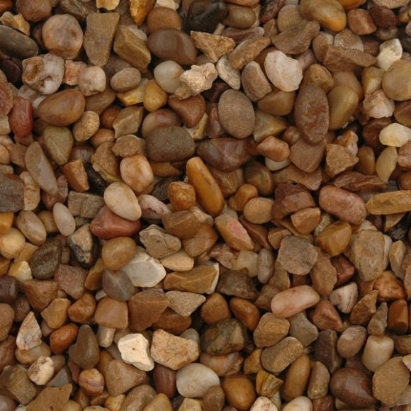Trent Pea Gravel Alluvial Quartz Shingle 3 - 6 MM - Available in 25 kg bags, or pallet quantities. Bulk Bags please call for details and availability.