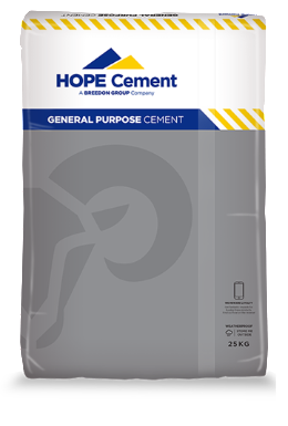 Hope Cement General Purpose (Plastic Bag) 25 kg - Available in single bags or pallets of 56 bags