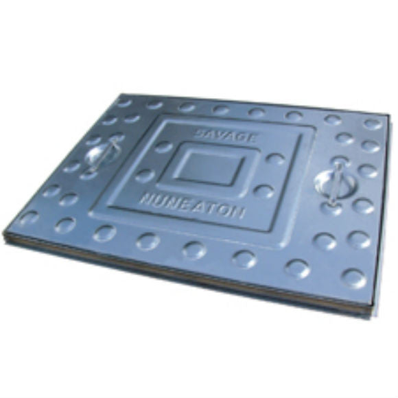 Pressed Steel - Inspection Cover - Solid Top - Single Seal -All Steel Frame