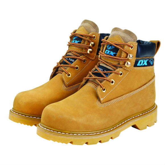 HONEY NUBUCK SAFETY BOOT - Available in Sizes 6 - 13