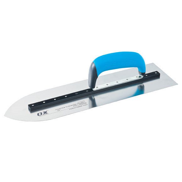 PRO POINTED FLOORING TROWEL 115 x 405mm - 16 Ins