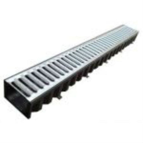 ACO HexDrain Channel c/w galvanised grating