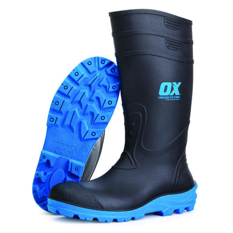 SAFETY WELLINGTON BOOT - Available in Sizes 5 -13