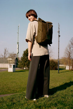 Top Roll Rucksack Army Green (Sample)