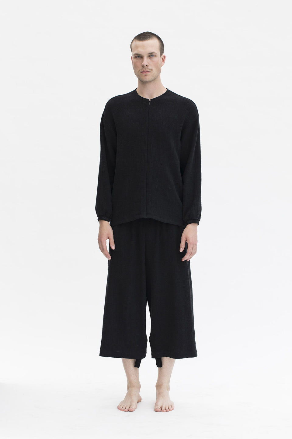 RAW Men Wide-leg Pants Black