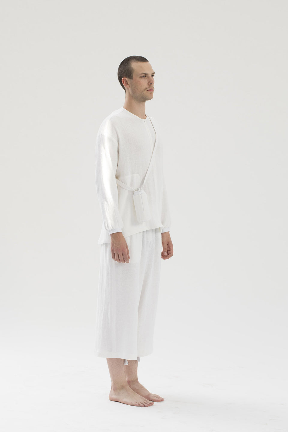 RAW Men Wide-leg Pants White S-M (sample)