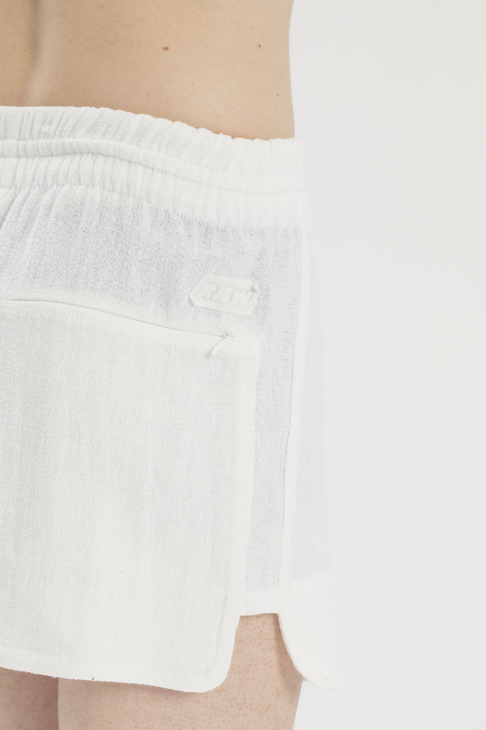 RAW Men Running Shorts White