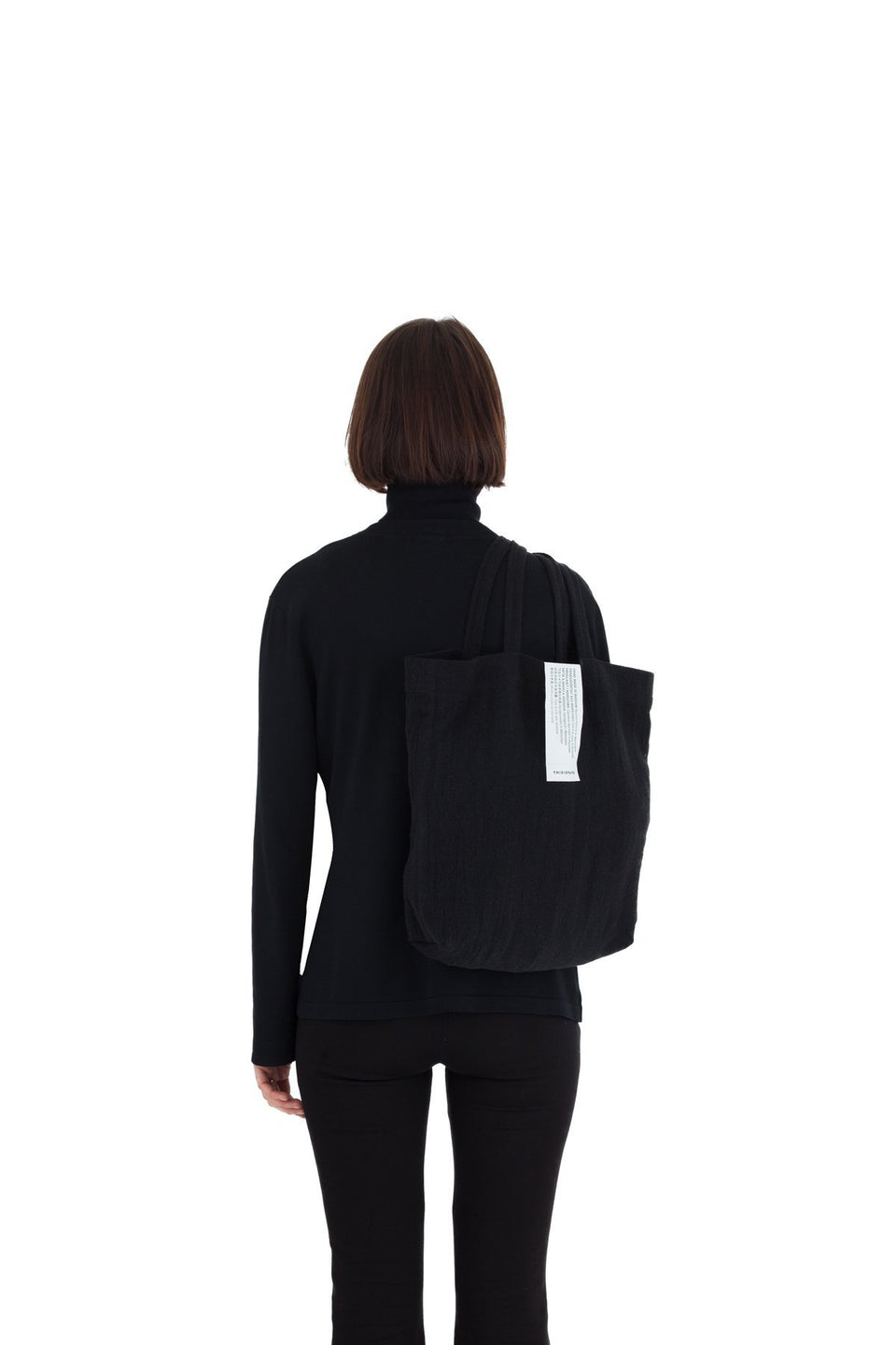 Thisispaper Linen Shopper Black