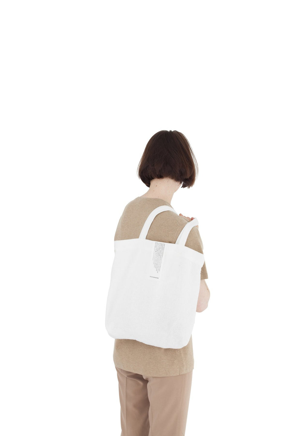 Thisispaper Linen Shopper Super White
