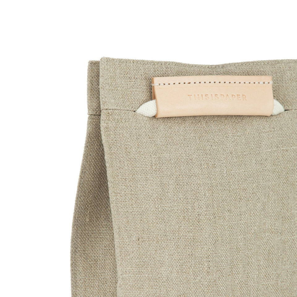 Thisispaper Pocket Bag Small Raw Natural (sample)