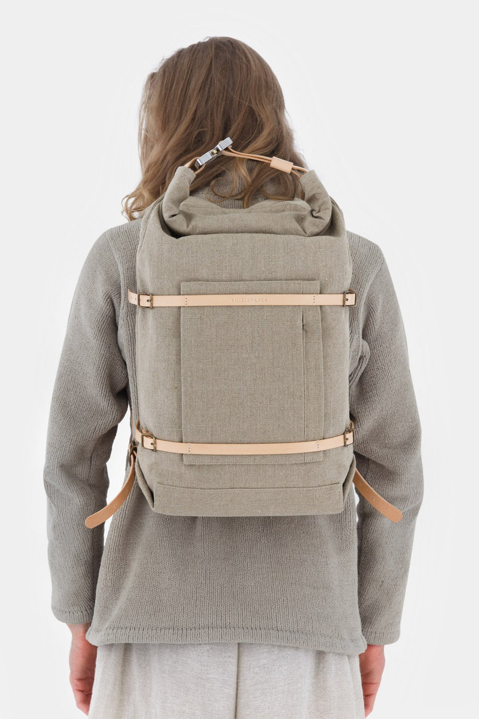 Thisispaper U-tility Backpack Raw Natural (sample)