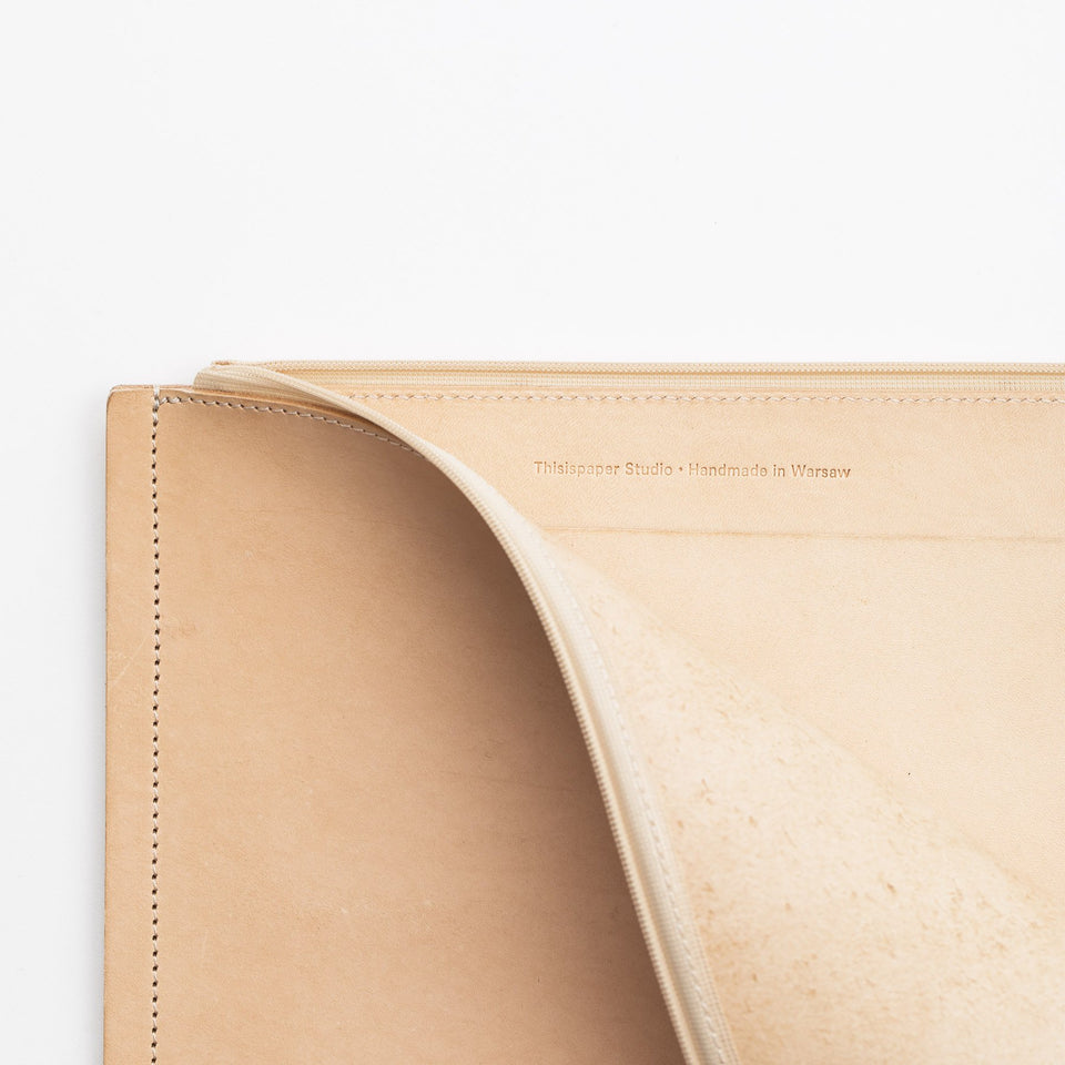 "C4 Leather Macbook 12"" Case Natural"