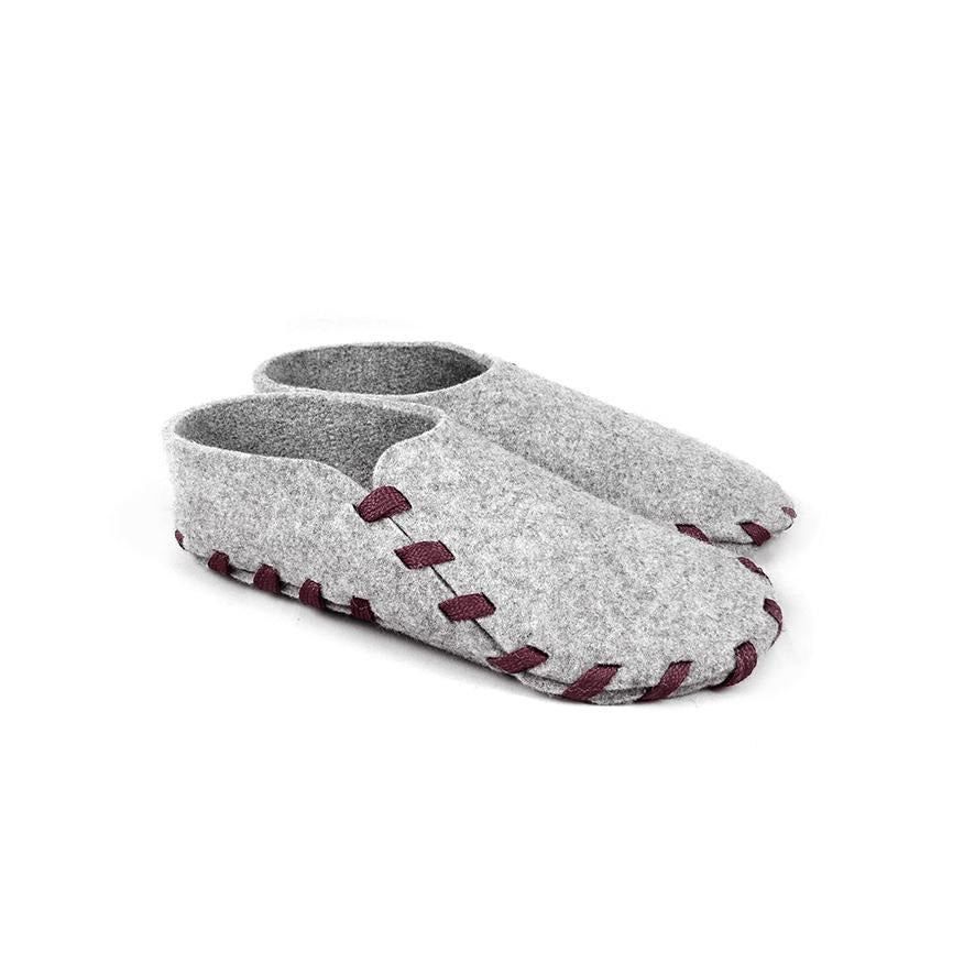 Lasso Classic Slippers Grey&Burgundy