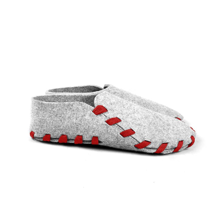 Lasso Classic Slippers Grey&Red
