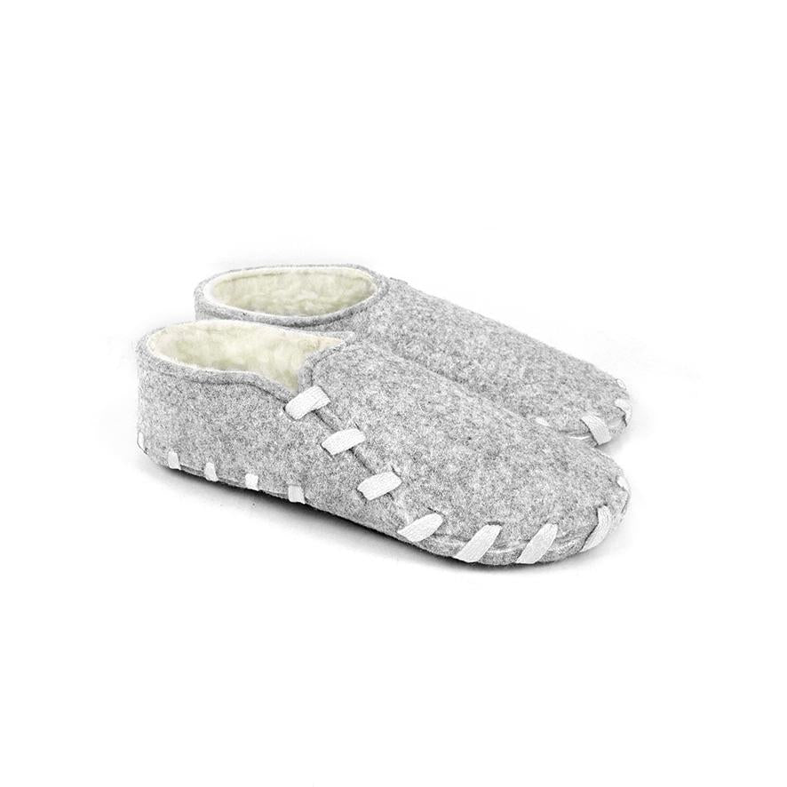 Lasso Furry Slippers Grey&White