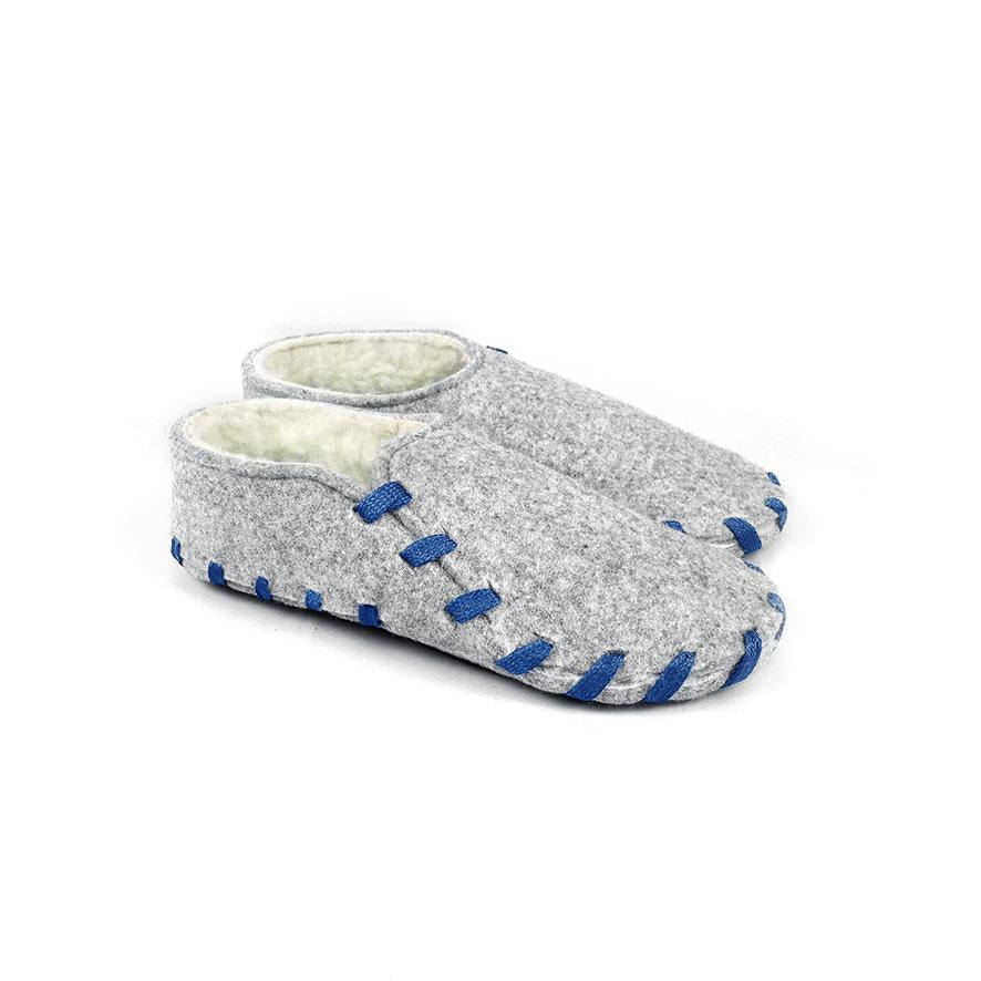Lasso Furry Slippers Grey&Blue