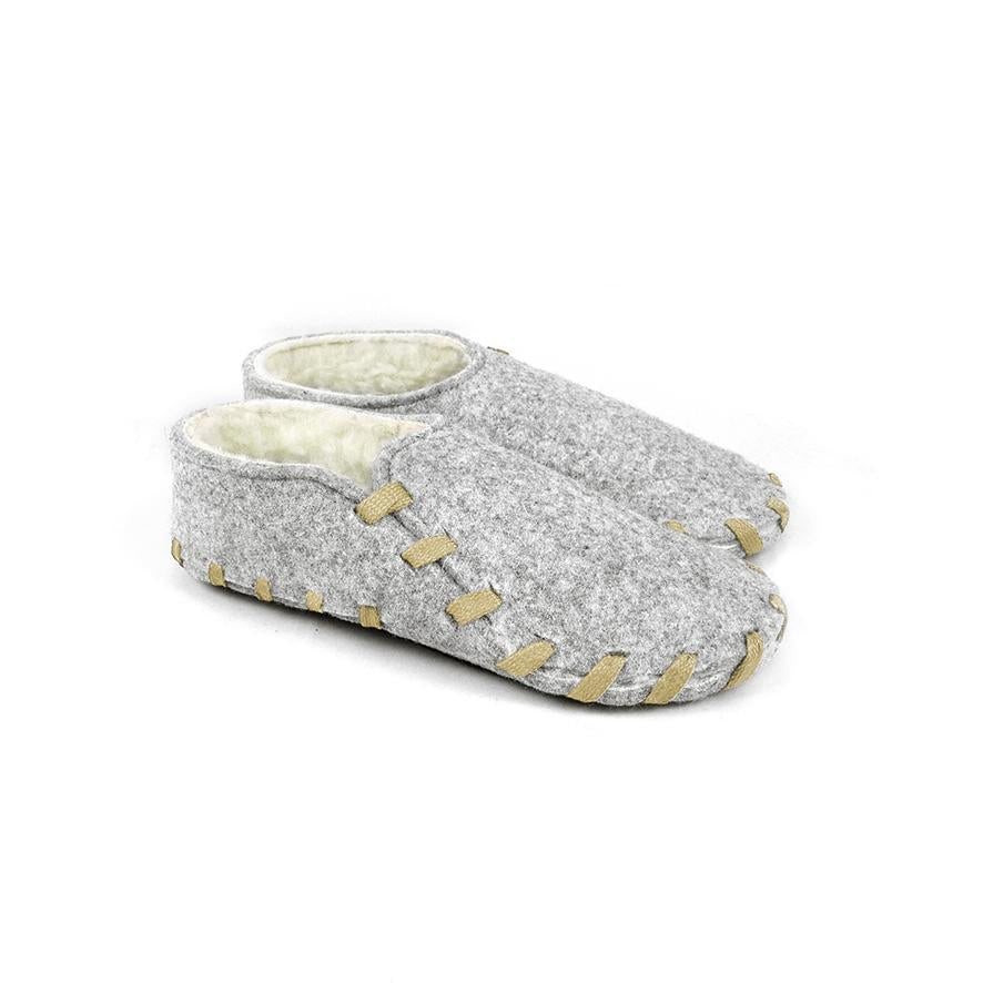 Lasso Furry Slippers Grey&Sand