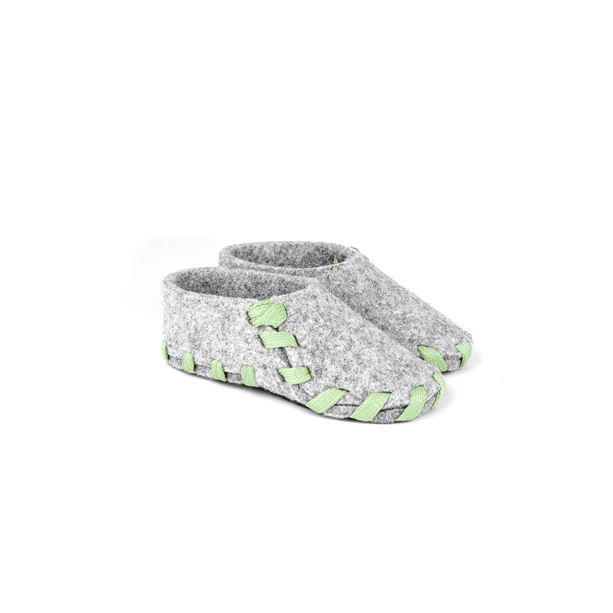 Lasso Baby Slippers Grey&Light Green