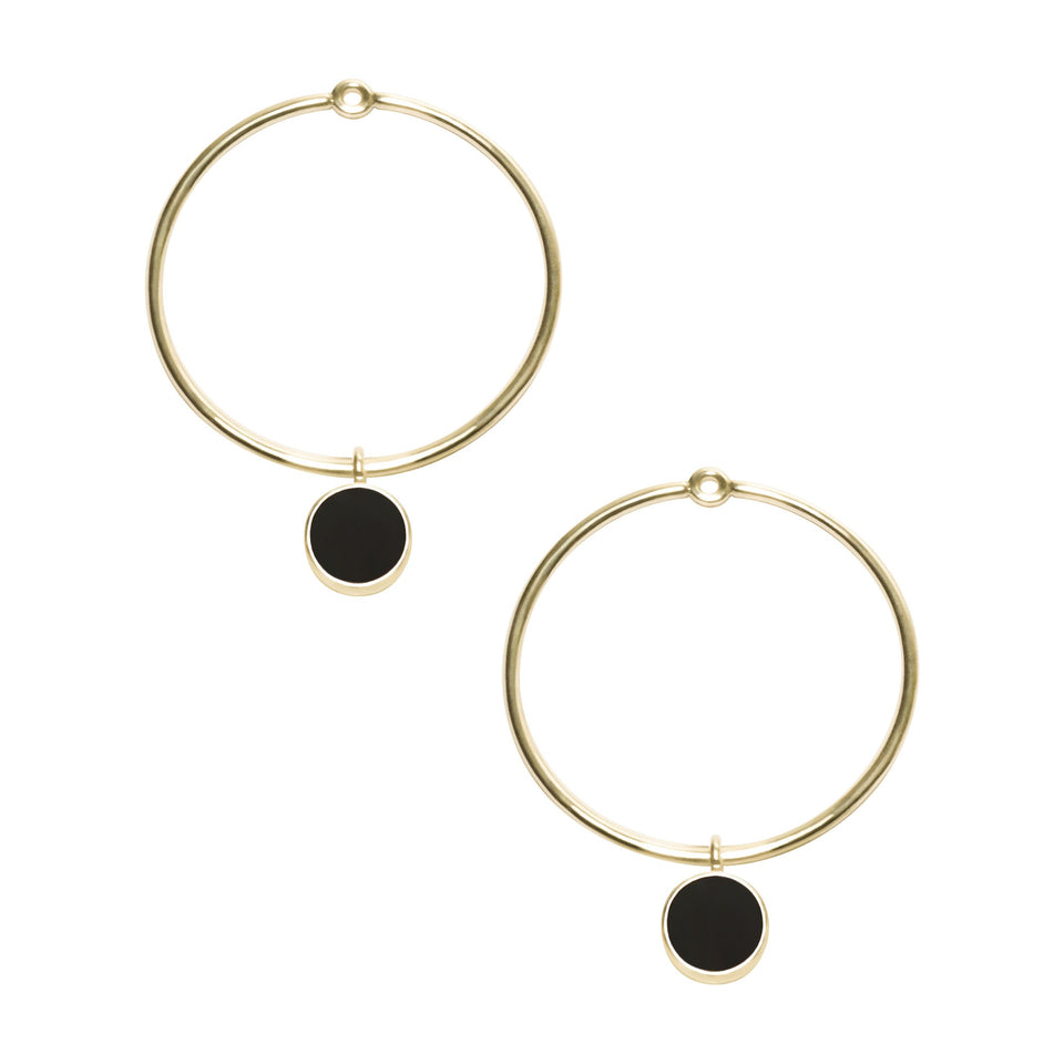 Gem Circle Earrings in Gold