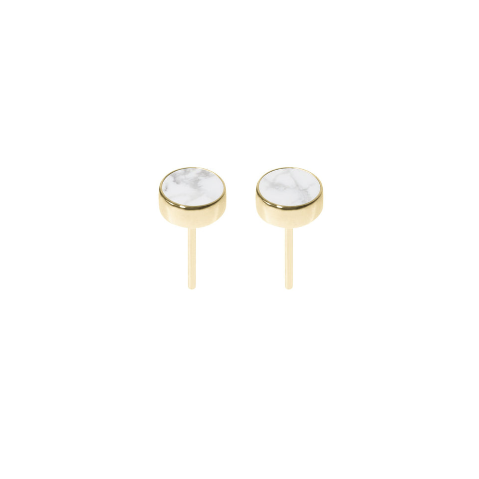 Gem Earrings in Gold