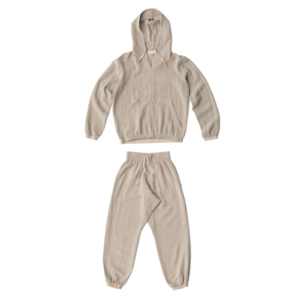 RAW Men Hoodie Set Natural
