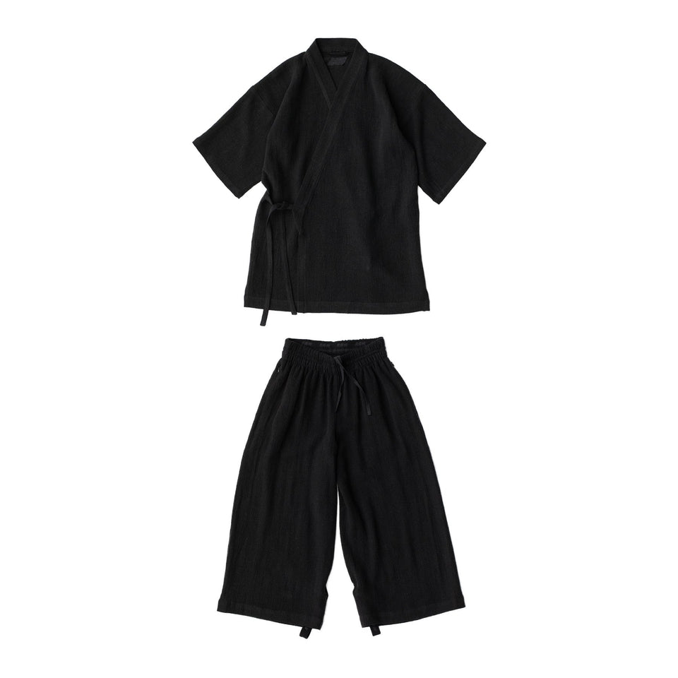 RAW Men Kimono Set Black
