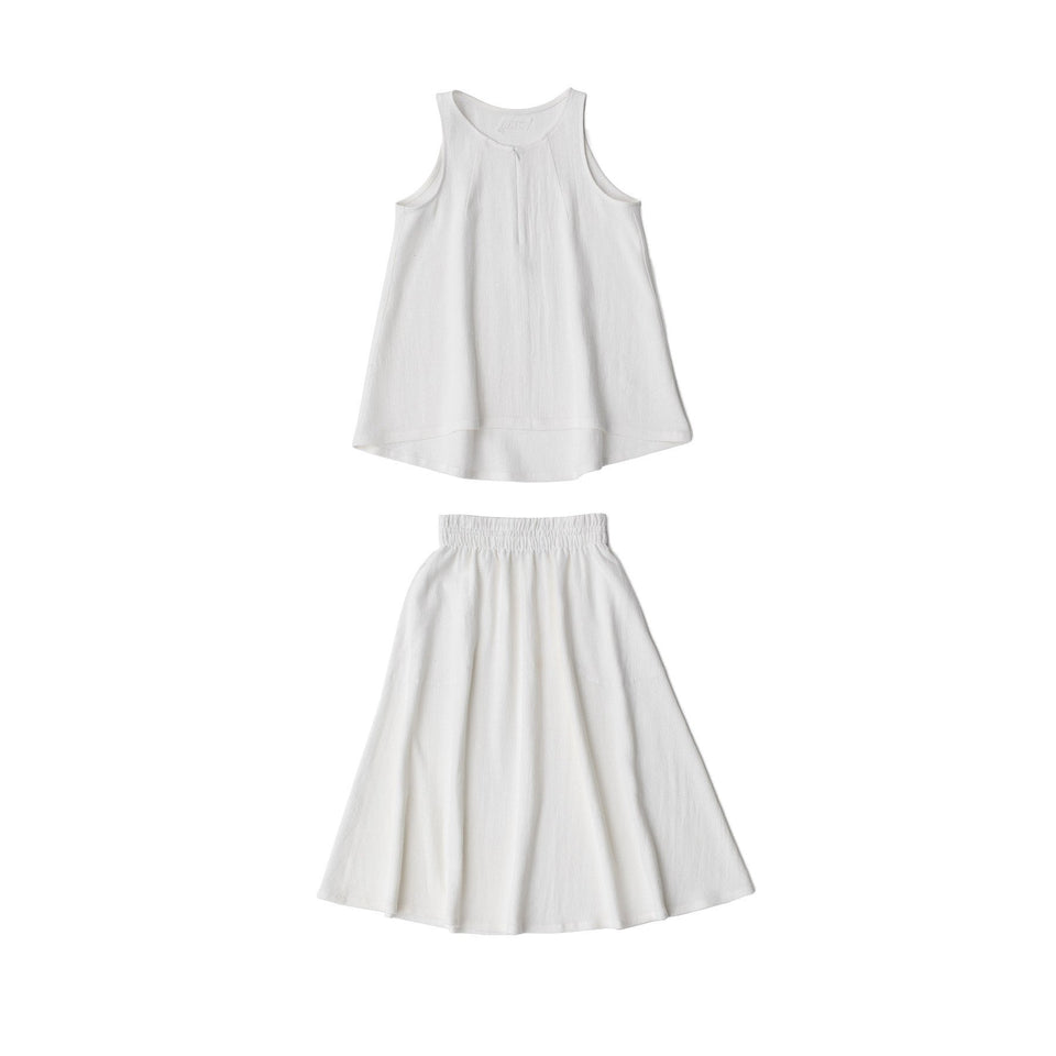 RAW Women Skirt Set White