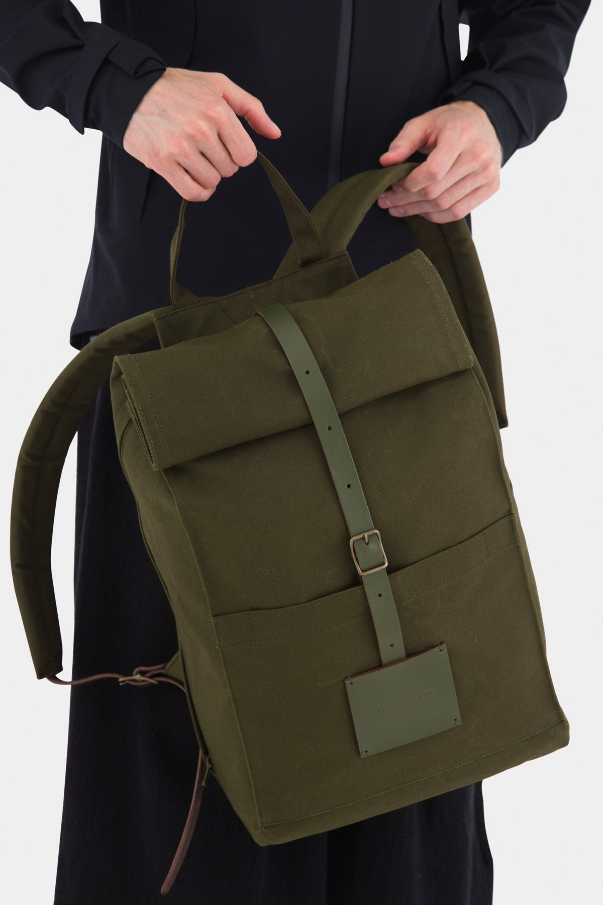 Top Roll Rucksack Army Green