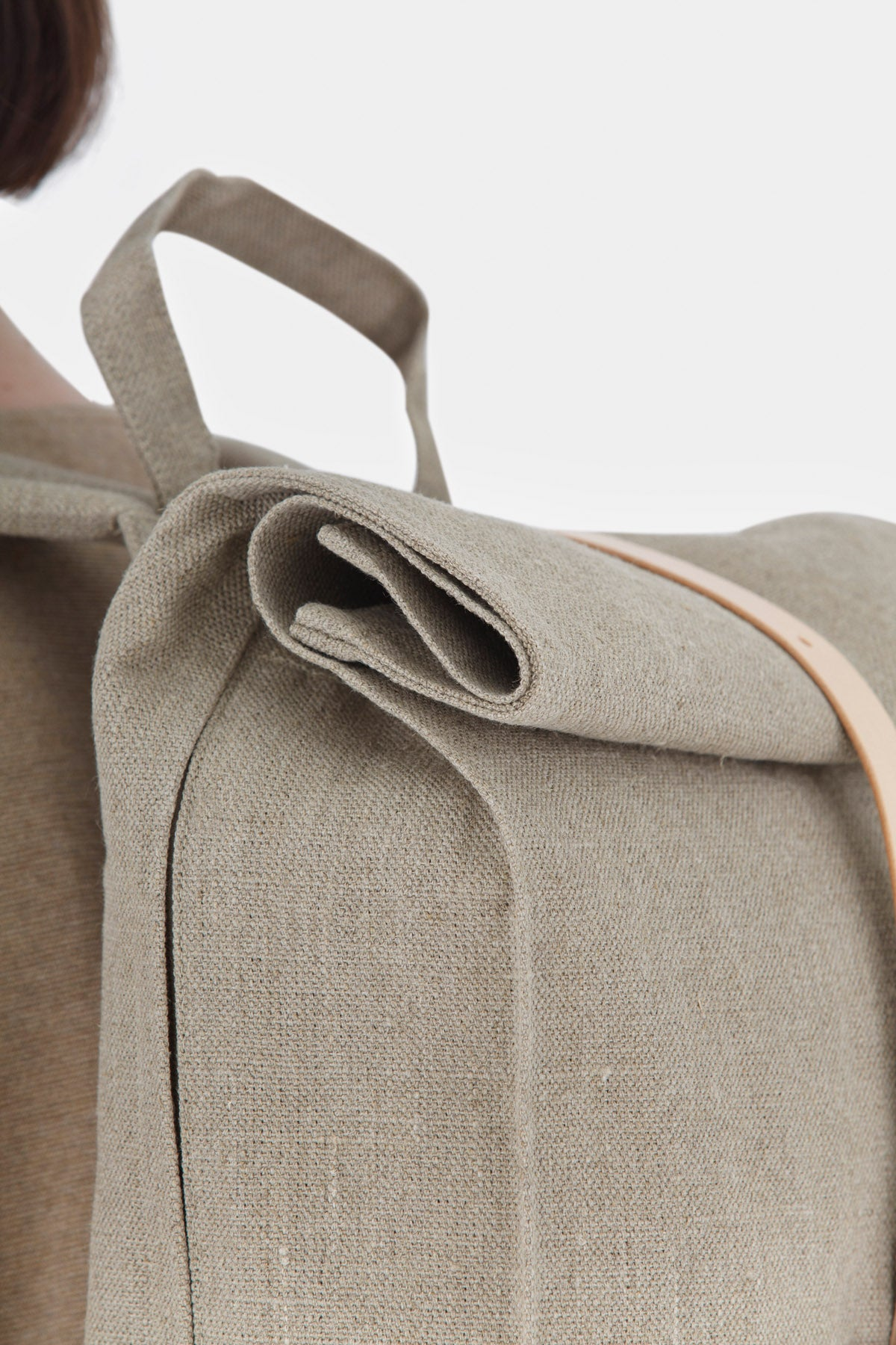 Top Roll Rucksack Raw Natural
