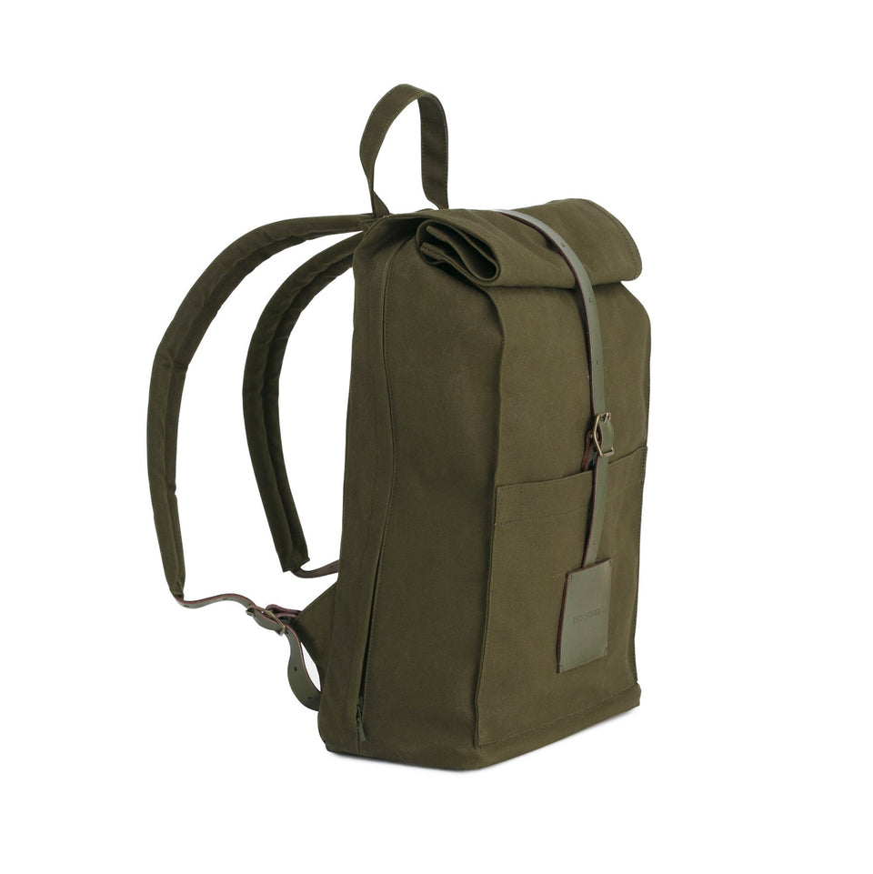 Thisispaper Top Roll Backpack Army Green