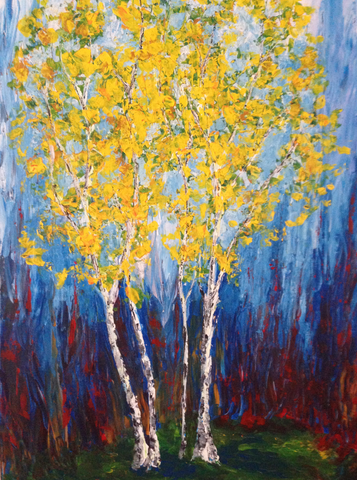 "Birches, 36""Hx24""W"