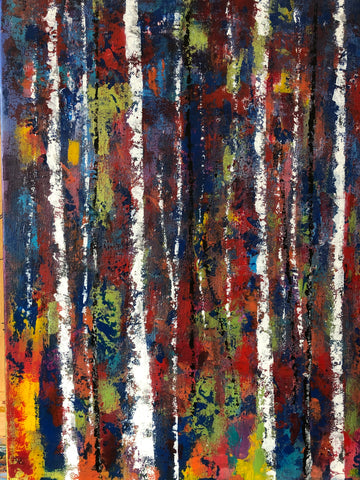 "Forest Birches, 18""Hx14""W"