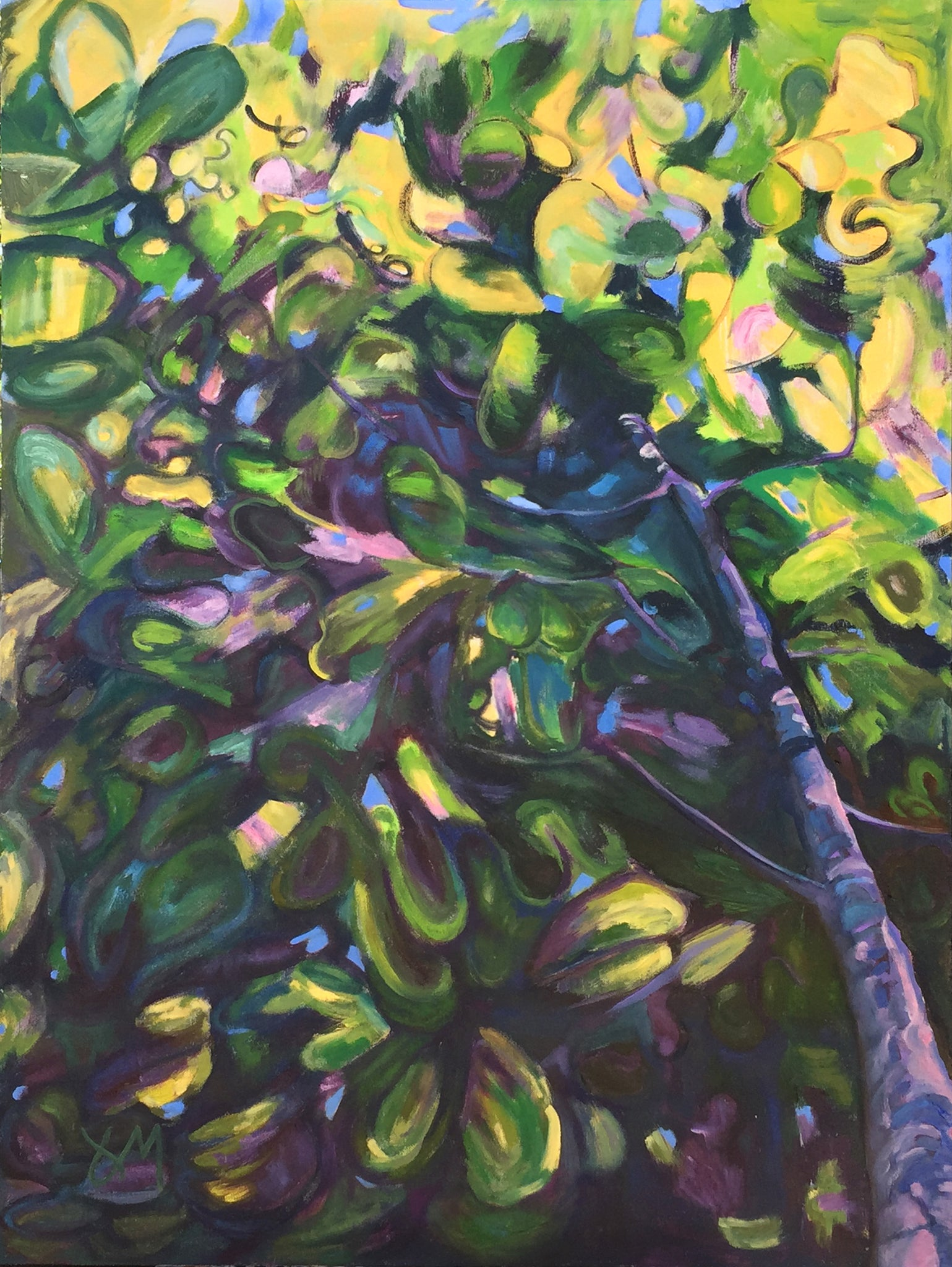 "Under the Canopy, 35""x47"""