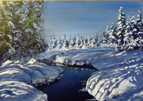 Where the River Runs - Paint a beautiful Laurentian Winter scene (online, pre-recorded)