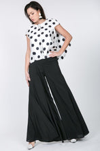 Load image into Gallery viewer, Cascade Ruffle Detail Polka Dot Print Top
