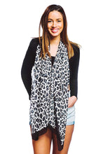 Load image into Gallery viewer, Fashion Silky Leopard Print Oblong Scarf