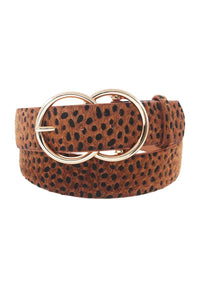 Stylish Cheetah Fur And Pattern Belt