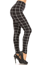 Load image into Gallery viewer, Plaid High Waisted Leggings With Elastic Waist And Skinny Fit