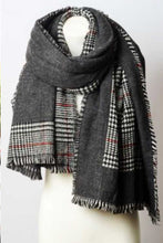 Load image into Gallery viewer, Reversible Tartan Plaid Oversized Blanket Scarf