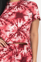 Load image into Gallery viewer, Tie-dye Printed Top And Pants Set